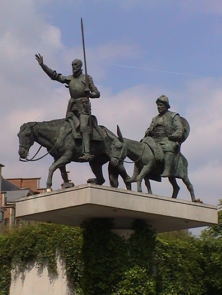 Don Quixote and Sancho Panza : Brussels Remembers, memorials in Brussels