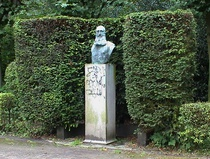 Leopold II bust in Duden Park