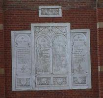 War Memorial at place du Jeu de Balle church