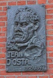 Jean d'Osta at place du Jeu de Balle church