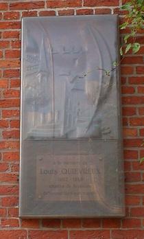Louis Quievreux at place du Jeu de Balle church