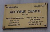 Antoine Demol near Manneken-Pis