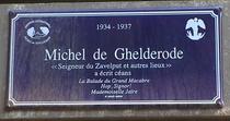 Michel de Ghelderode at rue de la Sablonnière