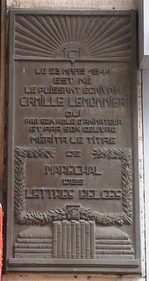 Camille Lemonnier at chaussée d'Ixelles