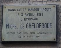 Michel de Ghelderode at rue de l'Arbre Bénit