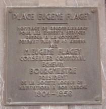 Eugene Flagey at place Eugene Flagey