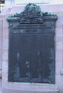St Gilles War Memorial WW1 (L-Z)