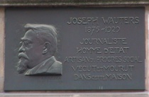 Joseph Wauters plaque