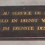War memorial since WW2 at Colonne du Congrès