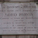 Lord Byron at rue Ducale