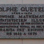 Adolphe Quetelet at place Quetelet
